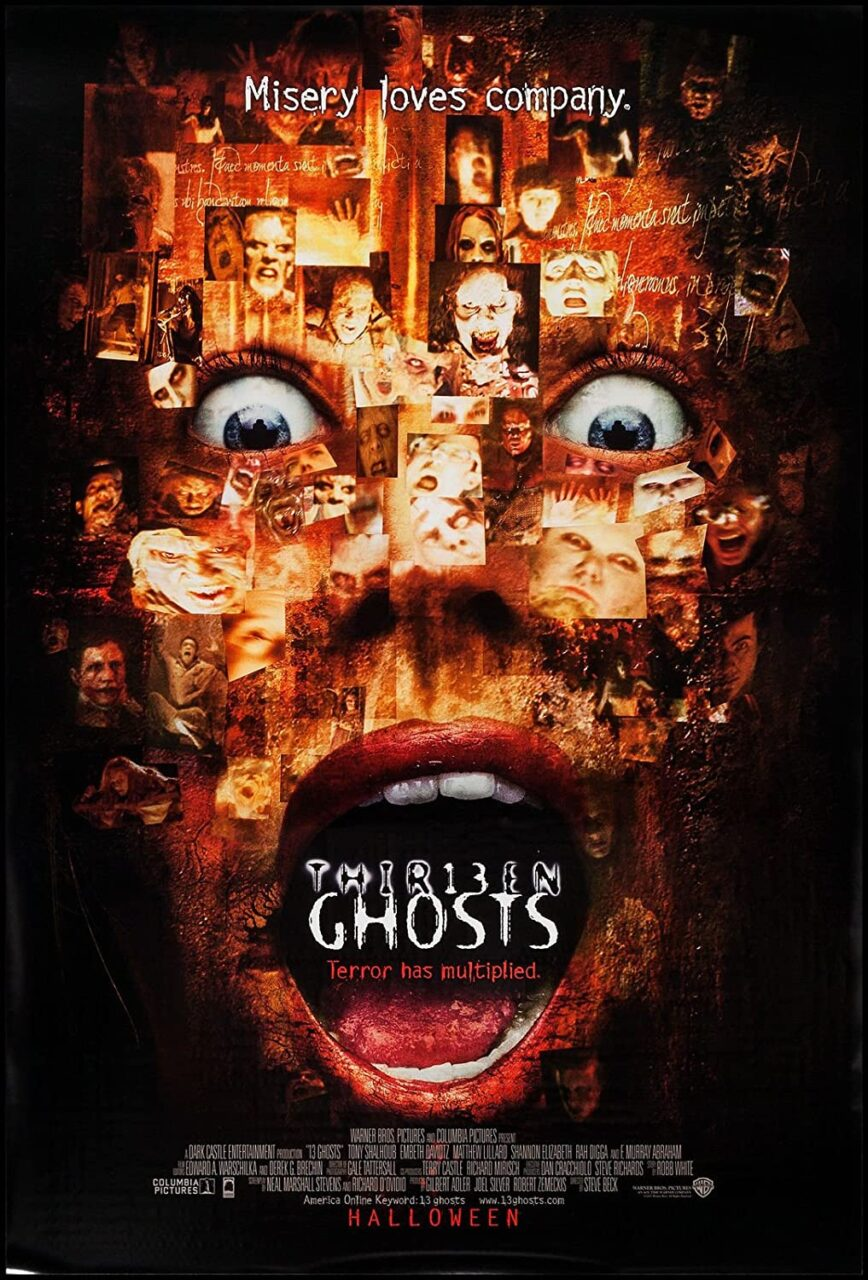 13 ghosts poster scaled - 20 Years Later: Underrated Horror Movie THIRTEEN GHOSTS Deserves a Second Look