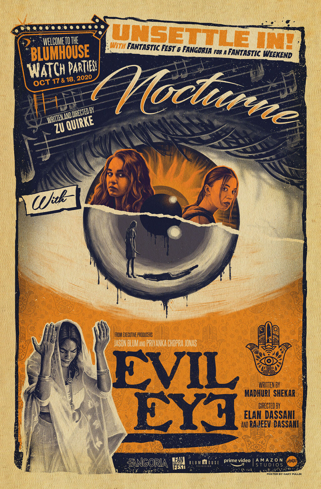 """unnamed 22 1024x1558 - Contest: Win a Set of Mondo Posters by """"Ghoulish"""" Gary Pullin for WELCOME TO THE BLUMHOUSE Film Series"""