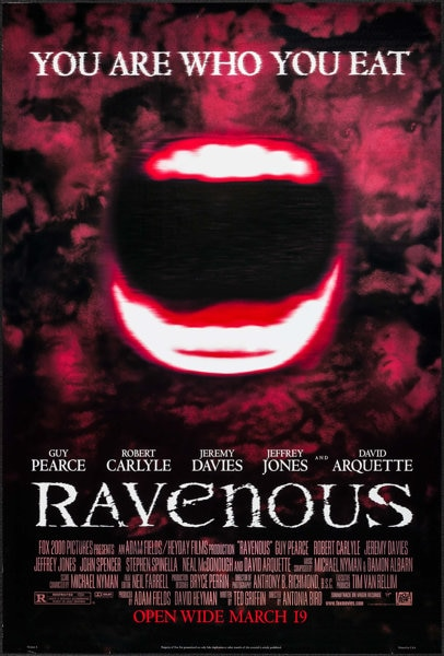 2. Ravenous - With Chianti & Fava Beans: Celebrating a Few of the Best Cannibal Horror Movies