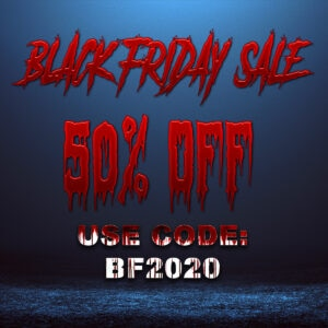 BLack Friday Graphics 2020 Code 300x300 - Exclusive Clip: Horror Icons Unite to Open AGRAMON'S GATE 2/11
