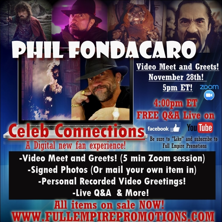 PF CC AD - TROLL Star Phil Fondacaro to Make First-Ever Virtual Appearance for Digital Fan Event