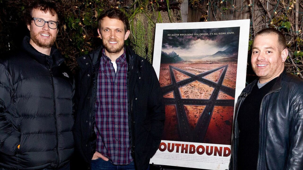 Radio Silence Tyler Gillett Matt Bettinelli Olpin Chad Villella Southbound premiere 2016 scaled - Radio Silence Breaks Their Silence about Paying Tribute to Wes Craven & Being a Part of the Slasher Resurgence with SCREAM