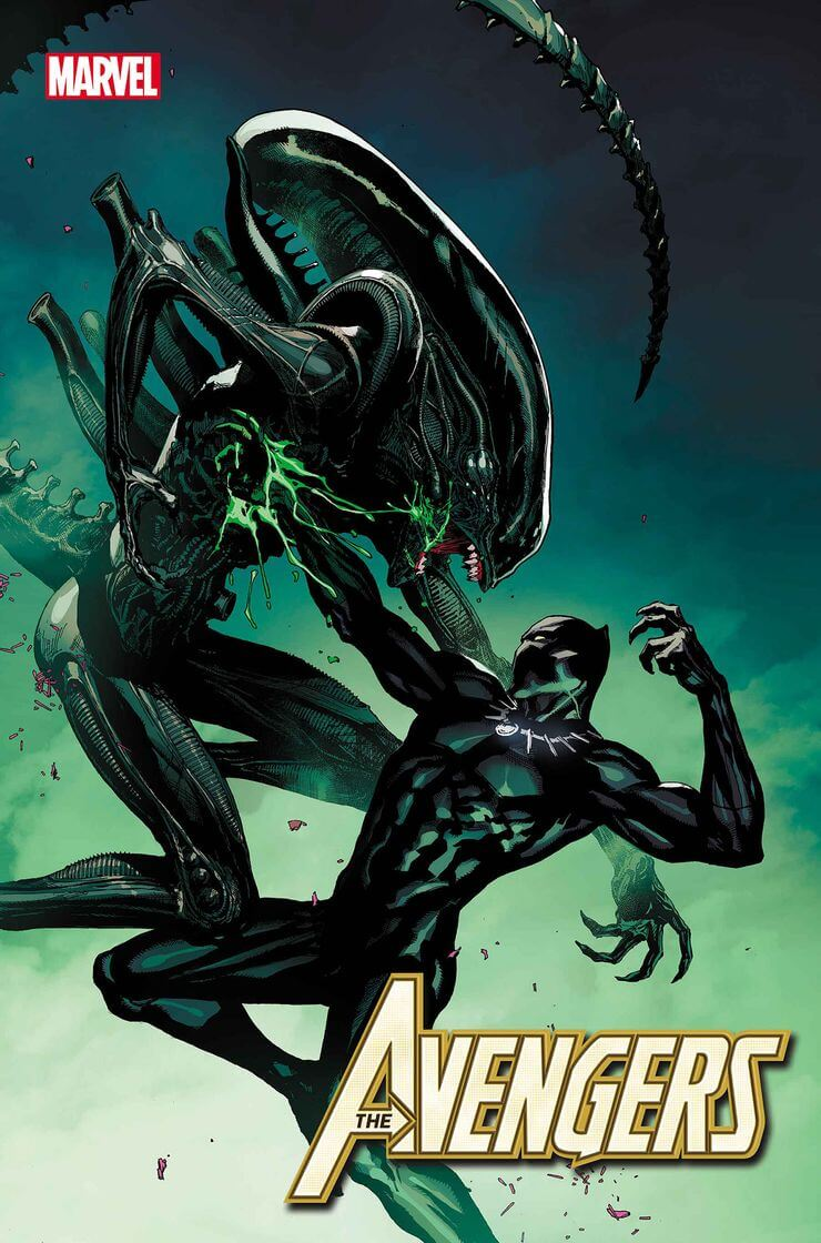 marvel aliens official variant cover2 1 - Xenomorphs Invade The Marvel Universe In Stunning New Official ALIEN Variant Covers