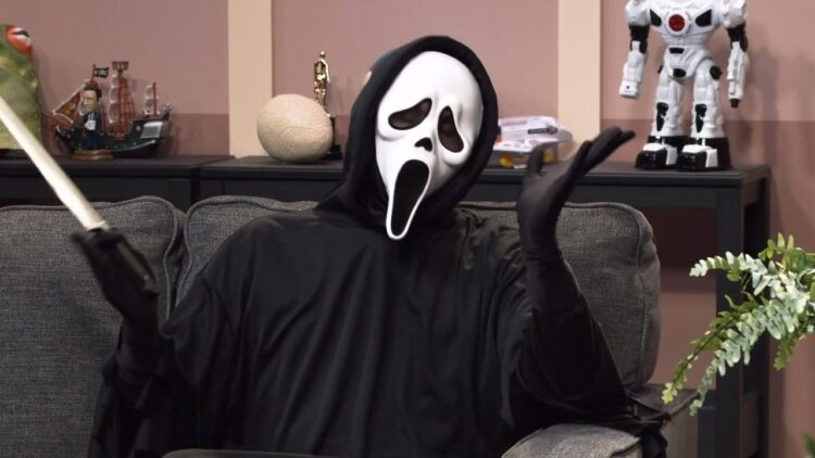 Ghostface The Movie Show Banner 750x422 - SYFY Exclusive Clip: SCREAM's Ghostface on THE MOVIE SHOW Tonight!