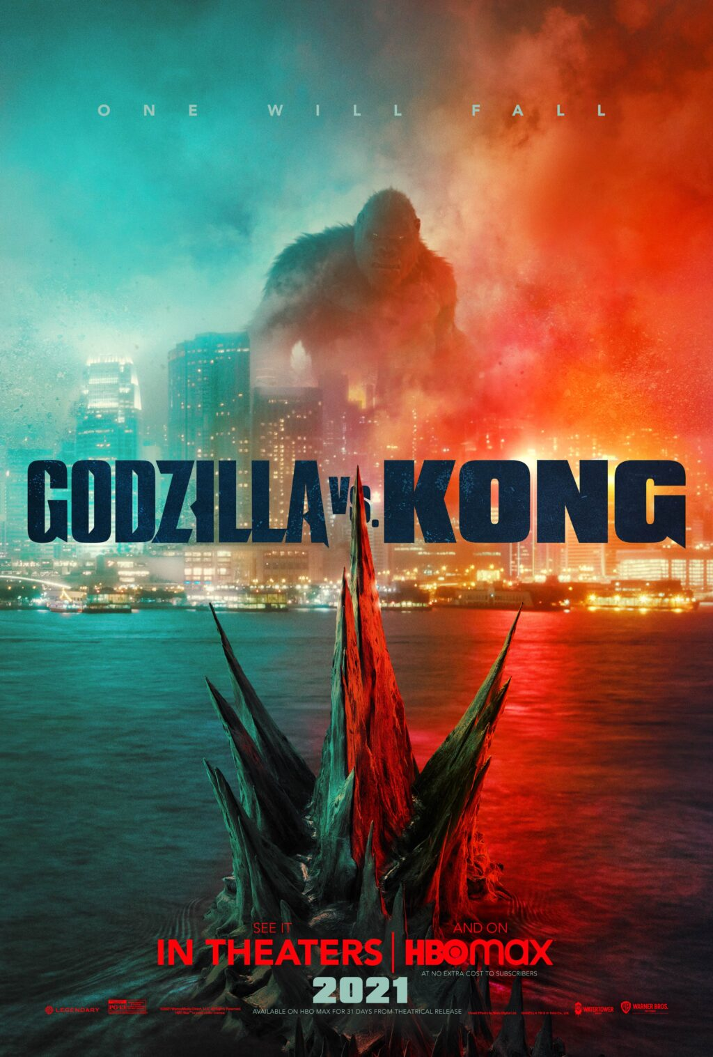 "Godzilla vs Kong Poster 1024x1517 - GODZILLA VS KONG Director Explains How King Ghidorah ""Haunts This Movie"""