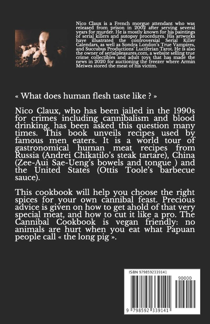 The Cannibal Cookbook Back scaled - True Crime: