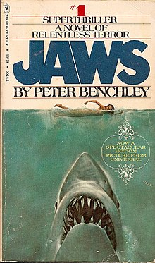 220px Jaws paperback - Horror in Print: My Personal Journey With Horror (Swimming Upstream PART 5)