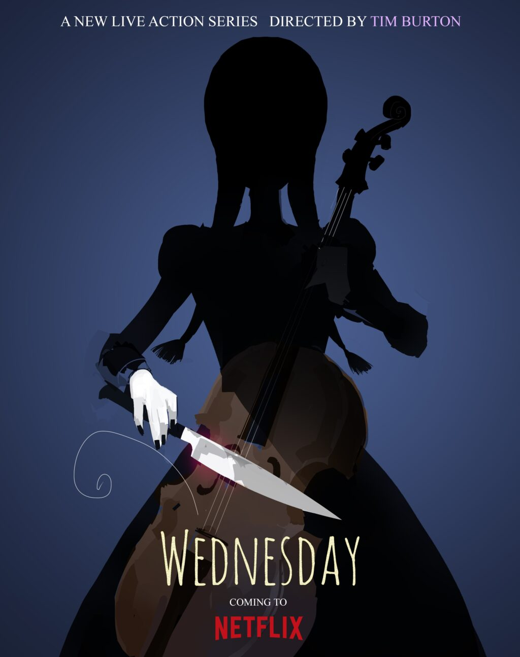 Wednesday FinalVerticalAnnounce 1024x1294 - Breaking: Tim Burton Will Make His TV Directorial Debut with Wednesday Addams Spinoff Series!