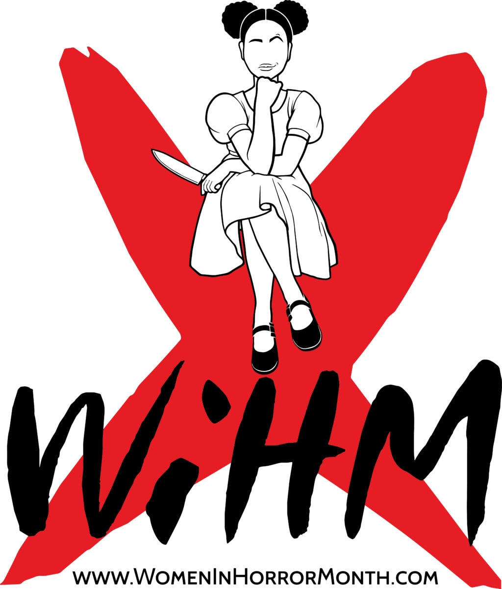 WiHMX vertical BlackWhiteBG 1024x1202 - Exclusive: Organizer Miki Hickel on the History, Significance, and Future of WOMEN IN HORROR MONTH