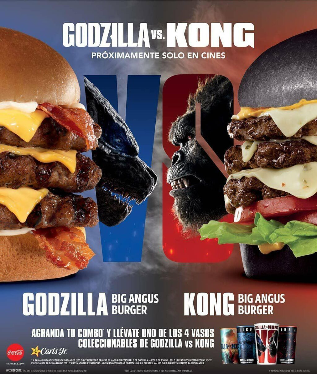 EwtfYOHXEAA2NC4 1024x1208 - Carl's Jr. in Mexico Cooks Up Titan-Sized Burgers for GODZILLA VS KONG