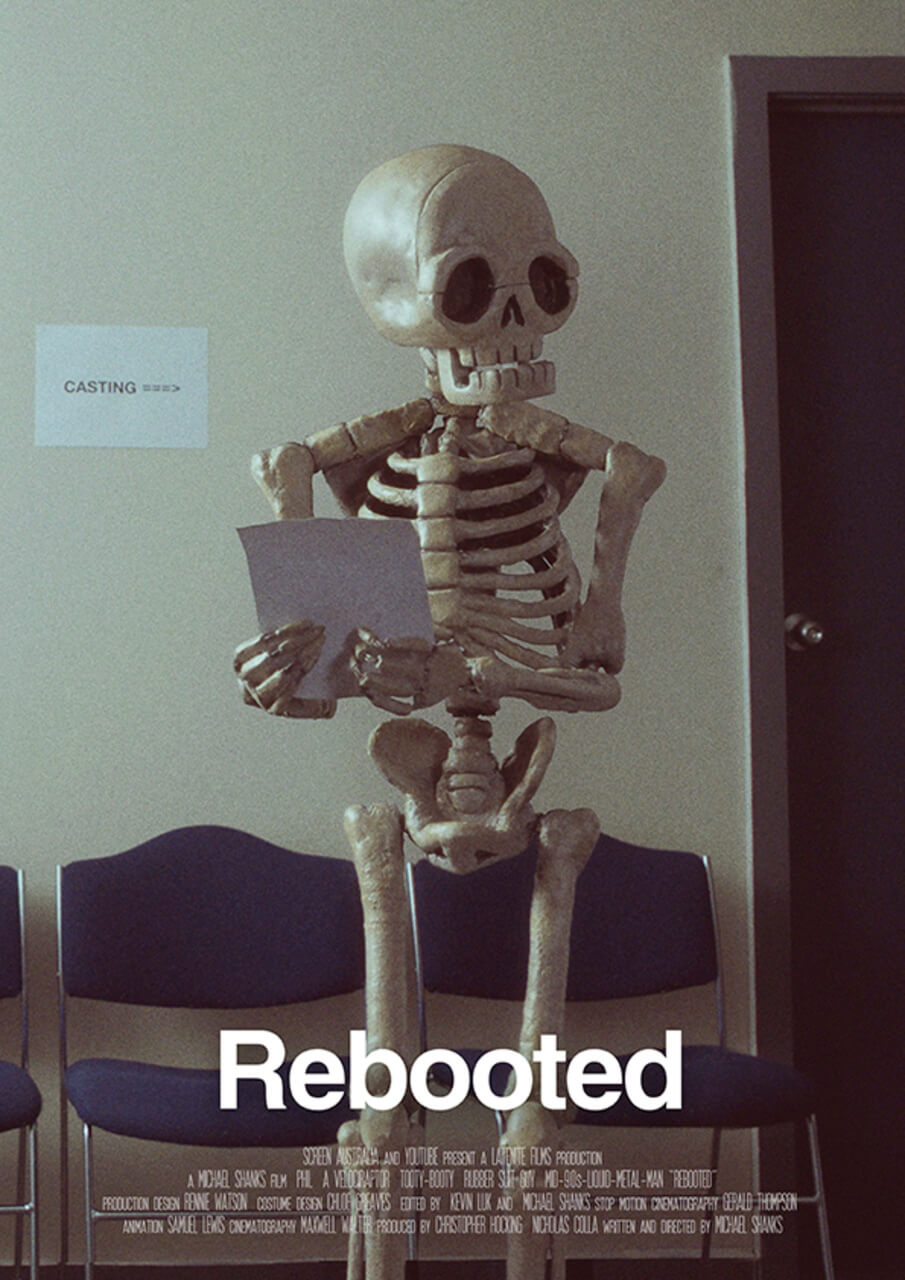 rebooted short film poster. 1 1 - REBOOTED Review - A Film About A Stop-Motion Skeleton That Will Make You Cry