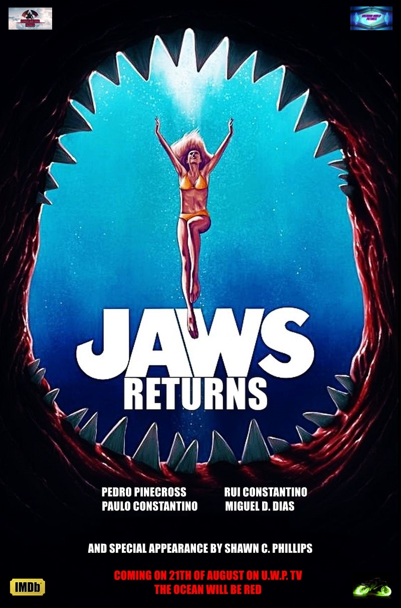 Jaws Returns Poster - JAWS RETURNS In New Tribute Film This August