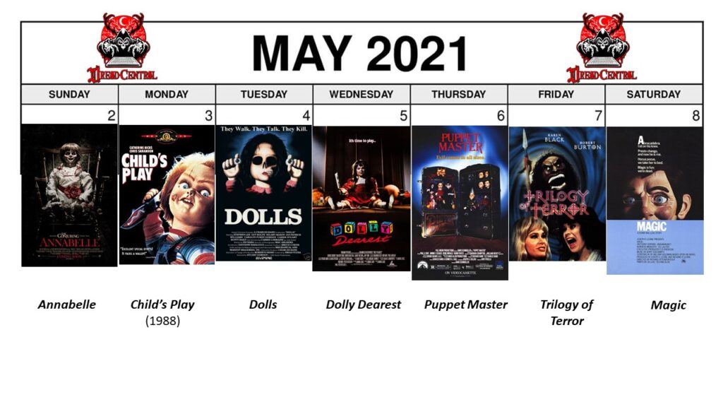 May 2021 Week 2 1024x576 - Enter The Uncanny Valley with a New #MonthOfDread Dedicated to Dolls!