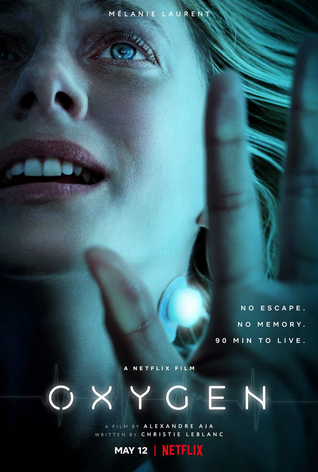 Oxygen Vertical Main sRGB EN US 1024x1517 - Trailer: Alexandre Aja's OXYGEN Will Now Leave You Gasping