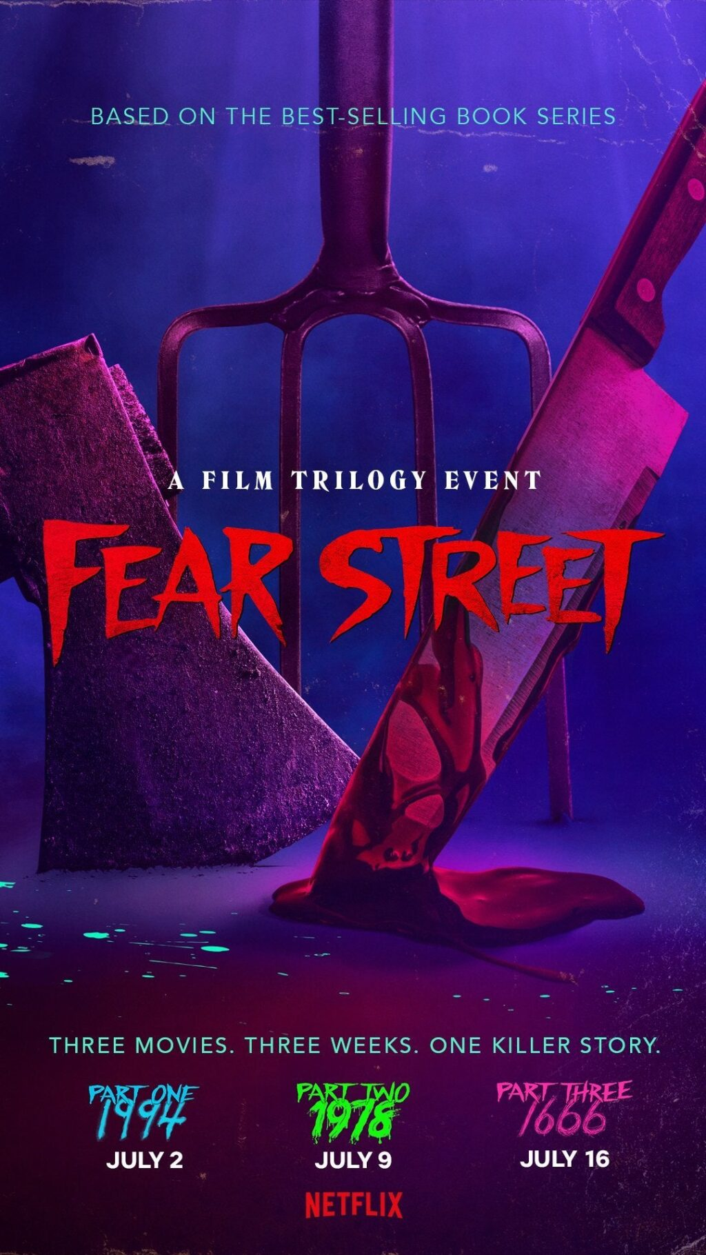 FEAR STREET Poster 1024x1820 - FEAR STREET Director Reveals the Killer Scary Horror Movies That Inspired Her Netflix Trilogy