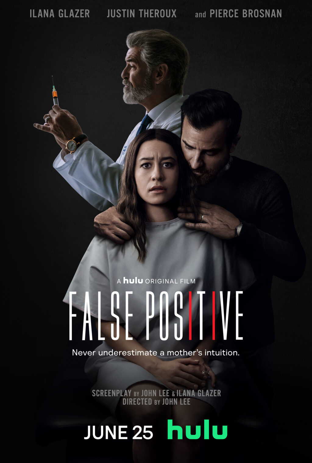 False Positive Vertical Key Art 1024x1517 - EXCLUSIVE: Join Us for a Crazy Chat with FALSE POSITIVE's Pierce Brosnan and John Lee