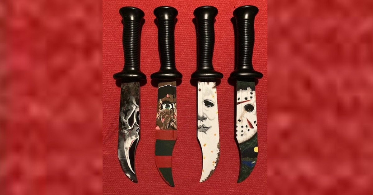 Handpainted Horror Knives Dread Central HD - Artist Creates Killer Hand-Painted Horror Knives [New Art]