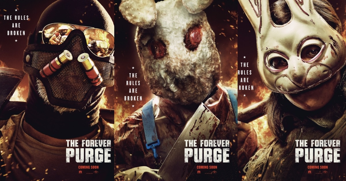 New FOREVER PURGE Posters Showcase Some Scary Ass Masks!