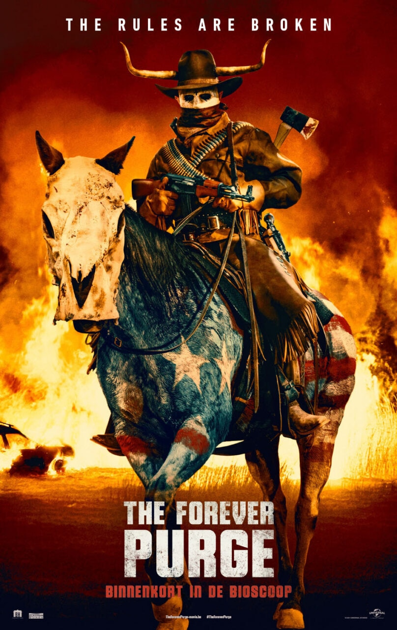 The Forever Purge poster 1 scaled - New THE FOREVER PURGE Poster Sports Nightmare Cowboy