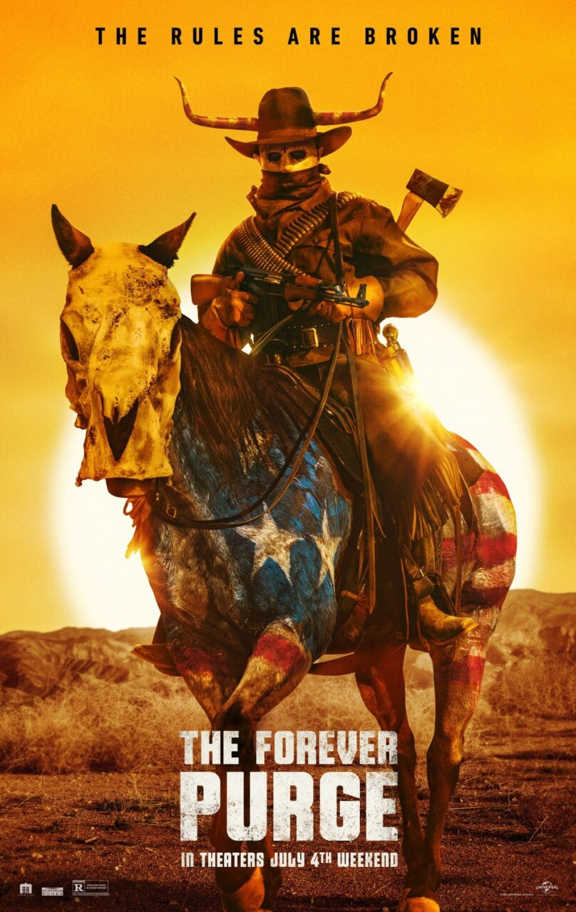 The Forever Purge poster 2 scaled - New THE FOREVER PURGE Poster Sports Nightmare Cowboy