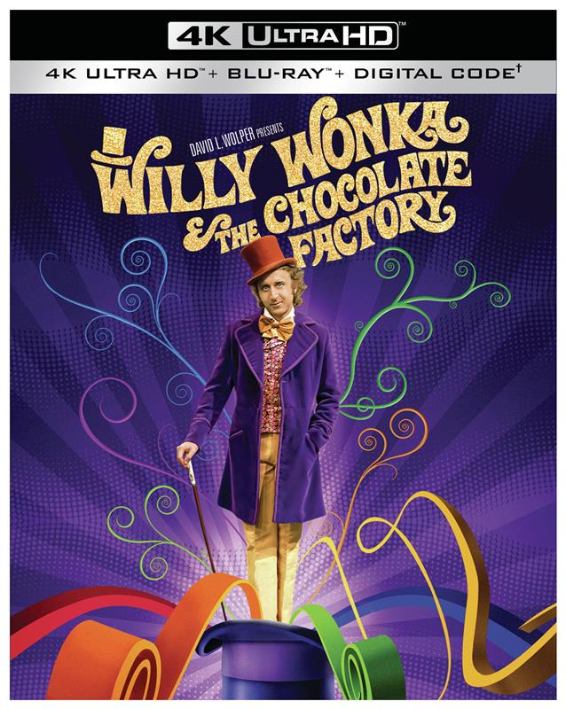 WillyWonka4KBoxArt - WILLY WONKA AND THE CHOCOLATE FACTORY Now Set for 4K Ultra HD Release on June 29th