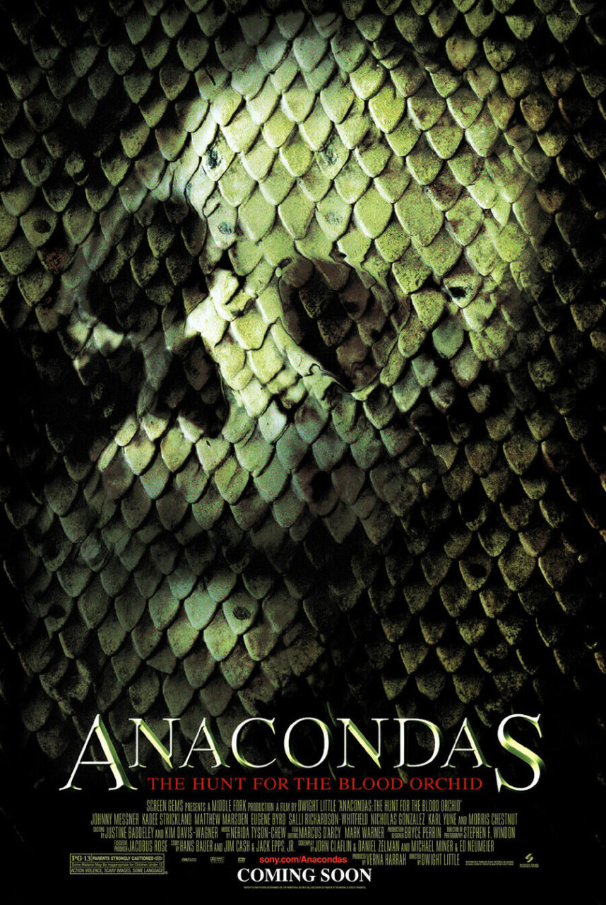 Anacondas The Hunt for the Blood Orchid Poster scaled - The ANACONDA Sequel That's Better Than We Remember