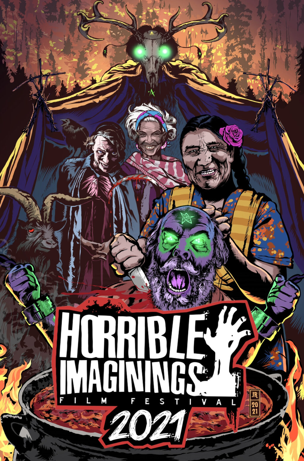 HIFF2021 poster 1024x1552 - Horrible Imaginings Bounces Back in 2021 with 24-Hour Marathon Fundraising Extravaganza