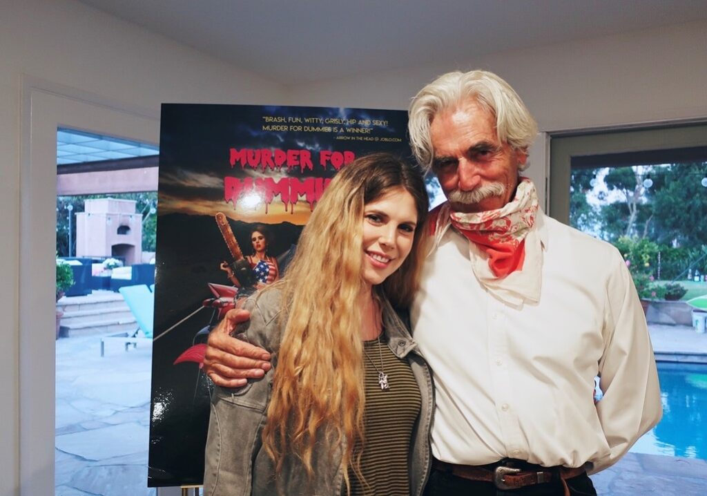 Cleo and Sam Elliot 1024x718 - MURDER FOR DUMMIES: Bonus Short Added to Free FAKING A MURDERER Los Angeles Premiere on August 3rd
