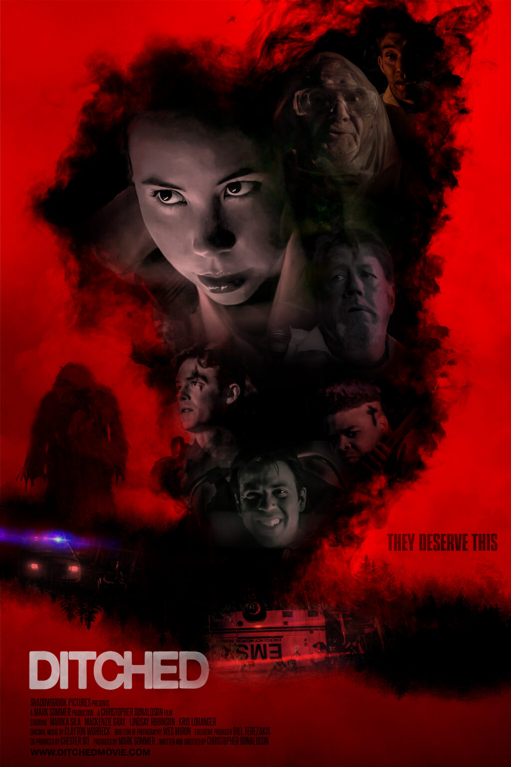 DITCHED 24 x36 One Sheet small 1024x1536 - Exclusive Poster and Images from DITCHED World Premiering at Popcorn Frights