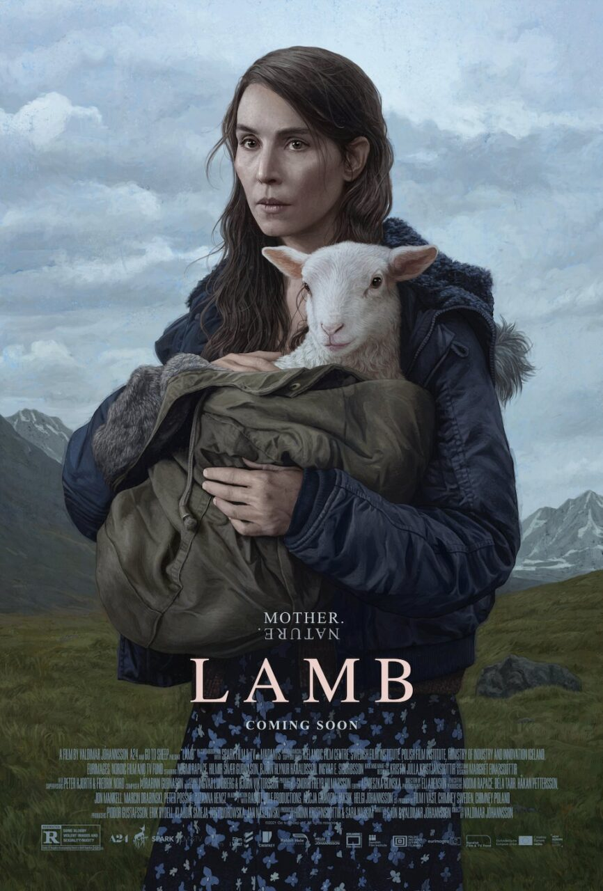 LAMB poster scaled - Noomi Rapace Has a Little LAMB in Full Trailer for Bizarre New Horror Movie from A24