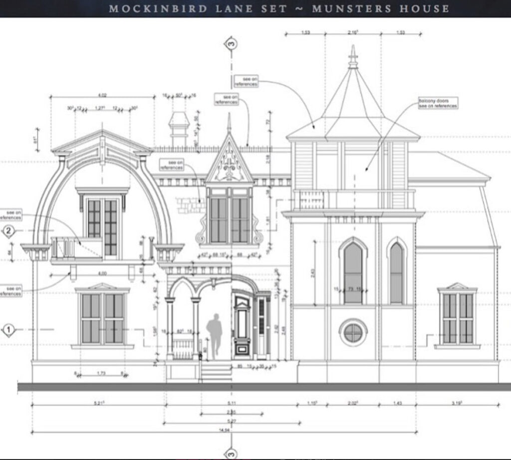 Munsters House 1024x921 - Rob Zombie Shares Design for Authentic Recreation of THE MUNSTERS House