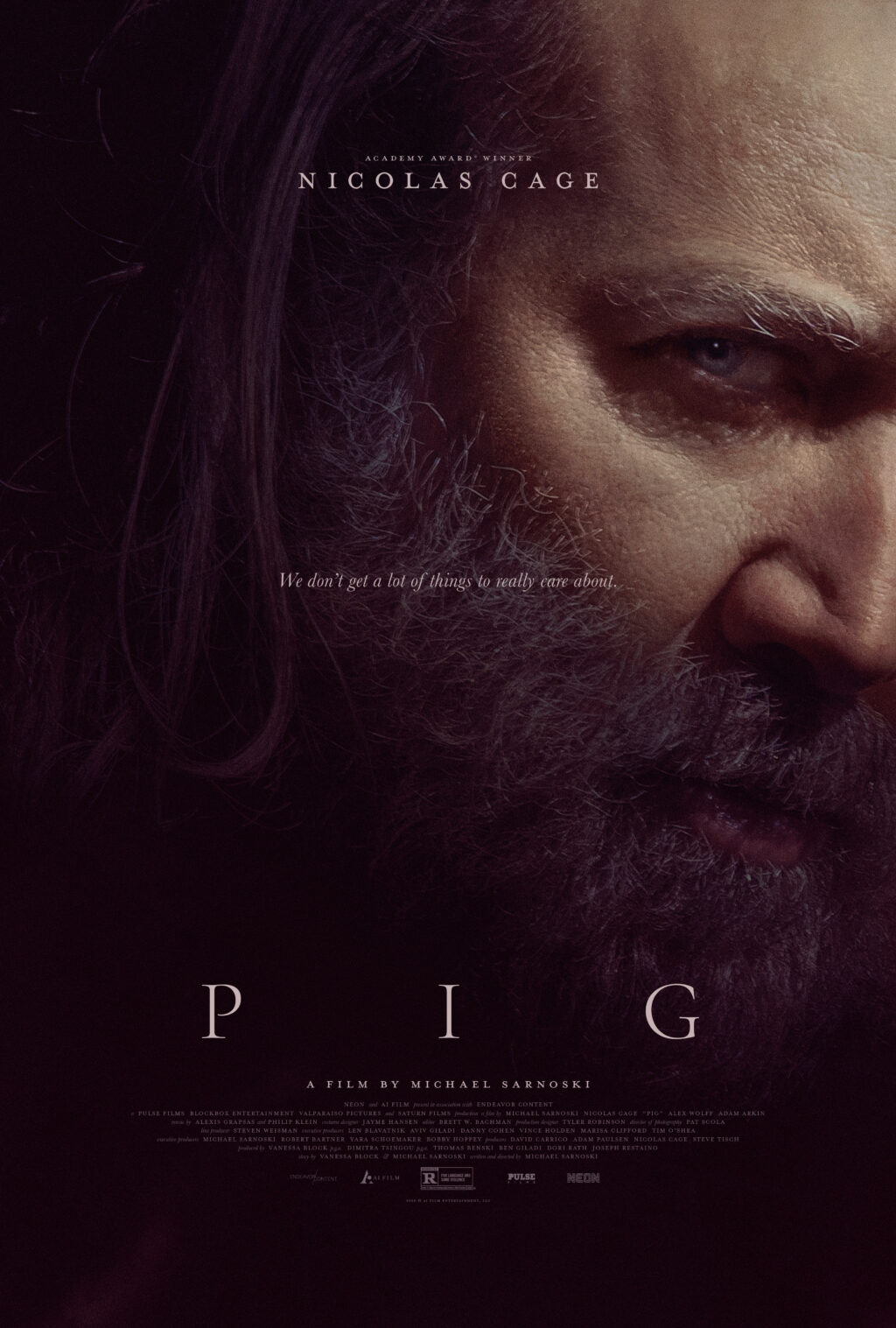 PIG poster 1024x1517 - Interview: Michael Sarnoski on Nicolas Cage & Truffle Pigs in Directorial Debut PIG