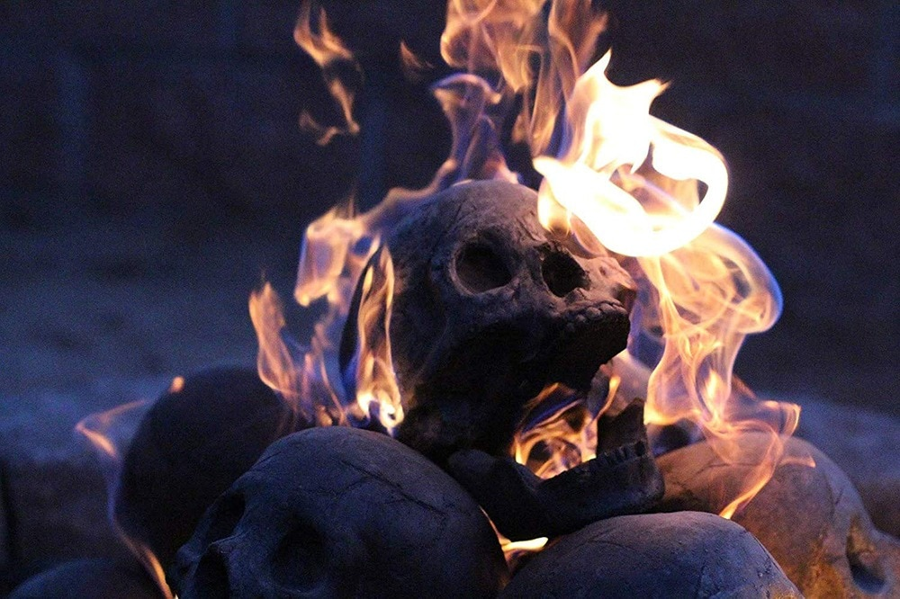 Fire Pit Skull Logs 7 - These 'Skull Fire Logs' Will Make Your Fireplace  Look Metal AF
