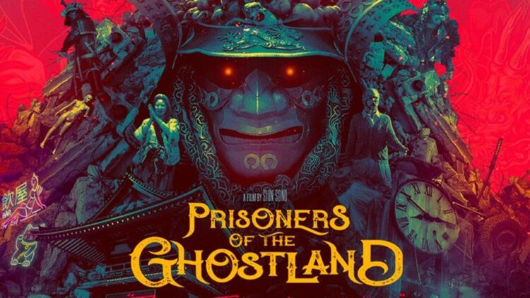 Prisoners of the Ghostland Banner 750x422 - Nic Cage Stands on a Pile of Skulls in New Poster for 'Prisoners of the Ghostland'