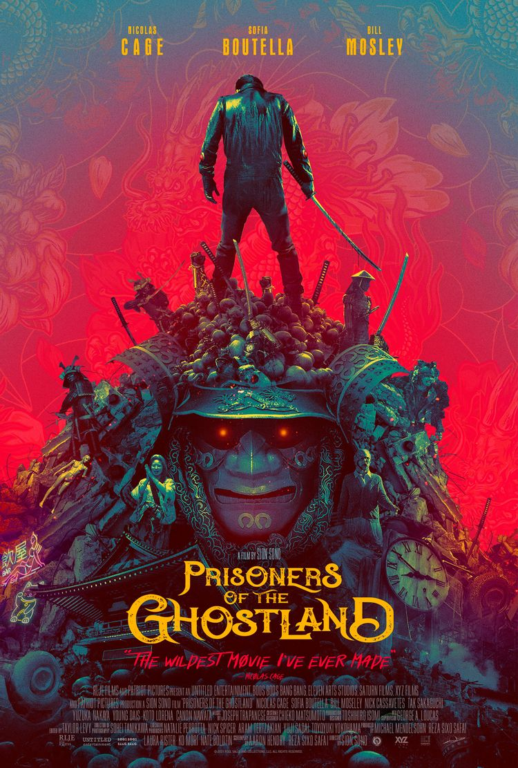 Prisoners of the Ghostland Poster 2 - Nic Cage Stands on a Pile of Skulls in New Poster for 'Prisoners of the Ghostland'