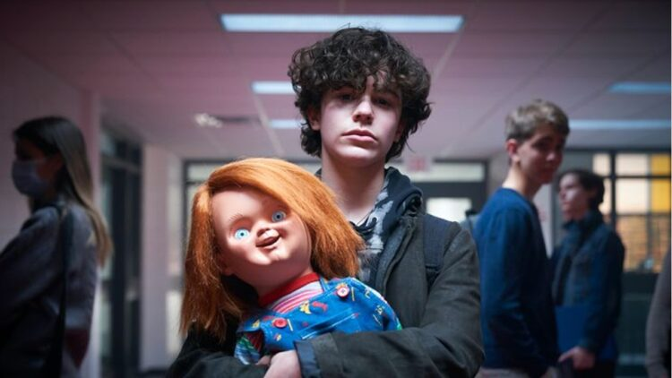 """Chucky Banner 750x422 - """"Good Guy"""" Goes Back to School and Devon Sawa Scowls in New Images from 'Chucky' TV Series"""