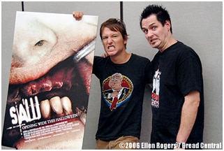 DC's Sean Clark with SAW scribe Leigh Whannell(click to see it larger!)