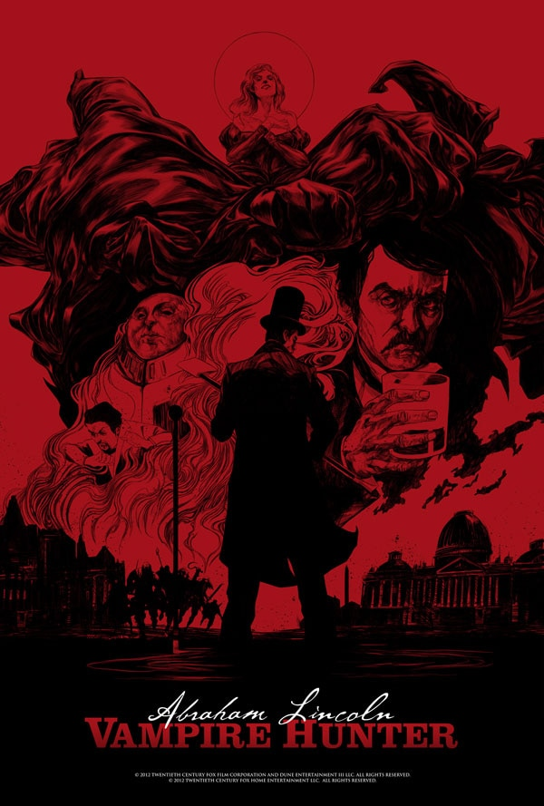 abeart1 - New Abraham Lincoln: Vampire Hunter New York Comic Con Posters and Digital HD Trailer