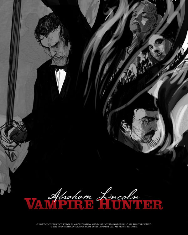 abeart2 - New Abraham Lincoln: Vampire Hunter New York Comic Con Posters and Digital HD Trailer