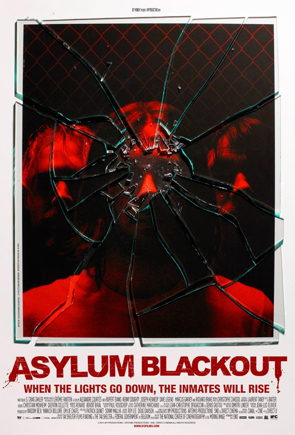 Inmates Break Out in New Asylum Blackout One-Sheet