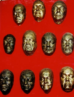 Forry's Life Mask Collection (click for larger image)