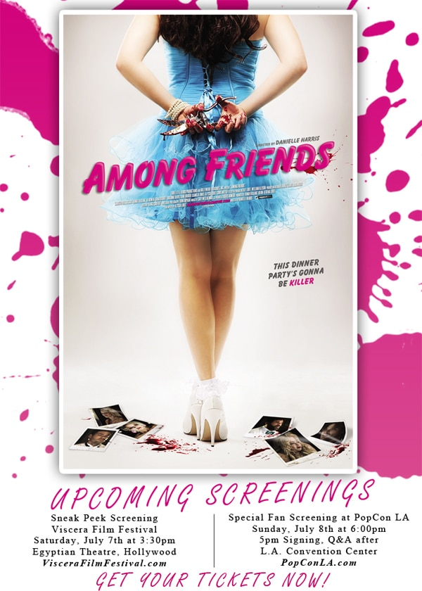 afp - New Poster Released to Promote Danielle Harris' Feature Directorial Debut Among Friends