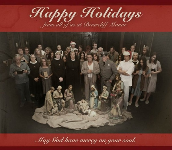 Nothing Says Happy Holidays Quite Like a Card from American Horror Story: Asylum
