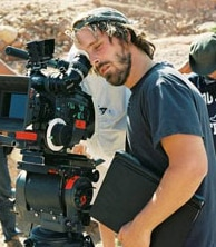 Alex Aja on the set of The Hills Have Eyes.