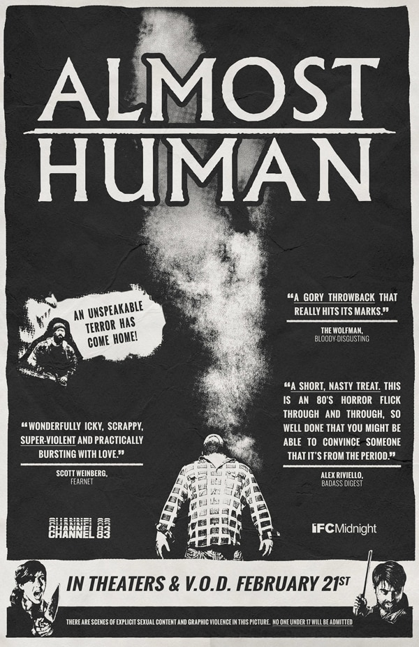 almost human poster - Exclusive: Joe Begos and Josh Ethier Talk Almost Human
