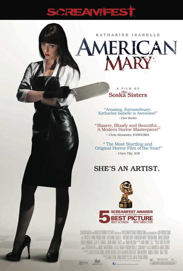 XLrator's US Theatrical Poster for American Mary Gets Serious