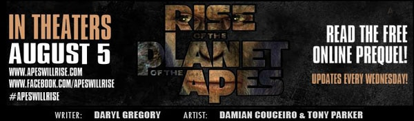 Rise of the Planet of the Apes Weekly Online Prelude Comic Now Live!