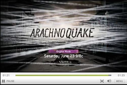 See Giant Fire-Breathing, Dog-Paddling Albino Spiders Attack New Orleans in the Trailer for Syfy's Arachnoquake