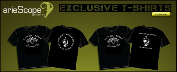 New Hatchet Army and Jack Chop T-Shirts On Sale NOW