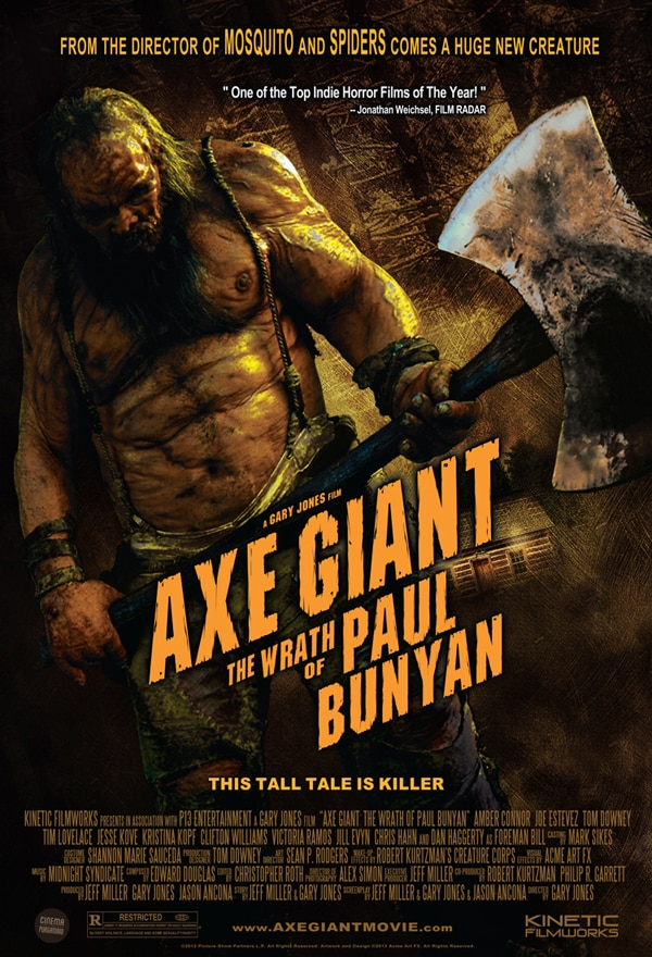 ax giant poster - Axe Giant: The Wrath of Paul Bunyan Goes Theatrical and We Have the One-Sheet to Prove It!